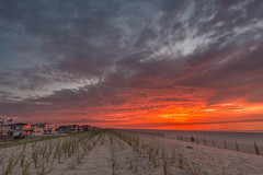 Fire in the windows (Bob Kirschke) Tags: sunrise 2016 beach lbi longbeachisland morning longbeachtownship newjersey unitedstates us fireysky bobkirschke dunes sanddunes vividstriking