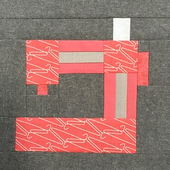 Sewing Machine Quilt Block (Modern Quilting by B) Tags: paper piece quilt block sewing room machine