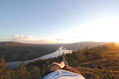 10pm Hike (R.Hawkins) Tags: re jamtland sweden scandinavia lake midnight sun relax tranquil nature love life wildlife canon fisheye wideangle cloud