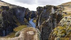 let's go explore ... (lunaryuna) Tags: iceland southiceland landscape river rivergorge fjadrargljufurrivercanyon archaiclookinglandscapes rockface textures texturaltuesday lunaryuna