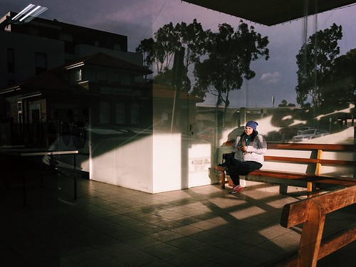 Streetphotography Streetphoto_color Streets Of Melbourne Everyday Australia Procamera Adobelightroommobile VSCO Mobilephotography Iphone6s IPhoneography Shootermag_australia Shootermag Light And Shadow People Watching Reflection Layering at Fairfield Vill