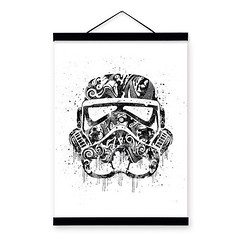 Freeshipping Original Watercolor Star War Trooper Helmet Mask Modern Abstract Wall Art A4 A3 Large Movie Poster Prints Canvas Painting Gifts by TheMildArt (Mild Art) Tags: art poster print painting canvas frame design original mild home decoration wall etsy shop for themildart