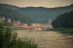 Knigstein (++NiklasPhotography++) Tags: elbe elbsandstein knigstein sunset sonnenuntergang summer sommer 2016 nikon fluss river
