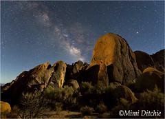 Light Painted Rocks In The Hills (Mimi Ditchie) Tags: alabamahills easternsierra lonepine milkyway astrophotography night nightsky star moonlight lightpainting getty gettyimages mimiditchie mimiditchiephotography