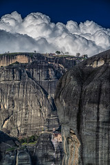 Above the clouds Meteora (mika_wist) Tags: greece meteora mountains clouds monastery cliffs