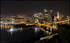 15 Seconds in The Burgh (CallihanImages) Tags: efs18135mmf3556isstm efs18135mm 22mm canoneos70d canon70d canon 70d pittsburgh pa pennsylvania lightpainting lighttrails cityscape night nighttime longexposure 15seconds