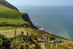 Round Wales Walk 42 - Men at Work (Nikki & Tom) Tags: walescoastpath ceredigion wales uk sea coast path track cliffs work