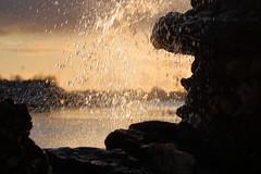 Fountain (blachswan) Tags: ballarat victoria australia lakewendouree sunset fountain water splashing winter