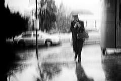 '' (ValantK.) Tags: bw greece rain street rainy mood umbrella hellas