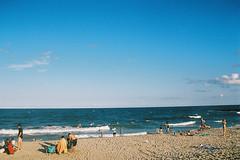 Day draws to a close (andrewkatchen) Tags: asburypark newjersey jerseyshore beach ocean nikon film 35mm portra400 n6006