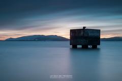 Box on Sea (Luis Sousa Lobo) Tags: img60662 mitrena setbal portugal sunset canon 70d longexposure longa exposio 2470 lee 10stops filter