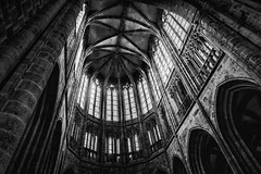 Abbey Mont Saint Michel (Rayoflightbe) Tags: normandi travel normandy mont saint michel abbey black white architecture