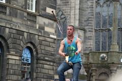 Street Performer, Edinburgh (Secondcity) Tags: edinburgh edinburghfestivalfringe royalmile highstreet streetperformer