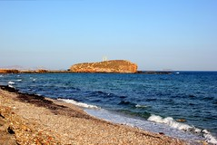 Palatia Island (ika_pol) Tags: naxos greece cyclades cycladesislands greekislands morning beach geotagged mediterranean naxostown aegeansea sea aegean palatia protara apollo apollotemple