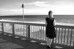 Contemplating The Ocean (chrismccorkle2) Tags: ocean black dress overlooking beach