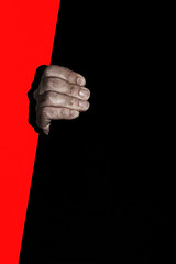Open (marcus.greco) Tags: open hand red black selfportrait portrait conceptual surreal colors