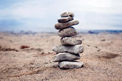 Find your way... (Cristy McAuley) Tags: cairn marker trail autumnwalks naturelover beach sand lakeshore watersedge