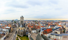 Sunset in Ghent (followmyhobby) Tags: verde sunset travel belgium ghent gante beligum europe photgraphy canon panorama pano view amazing picoftheday trip vacation