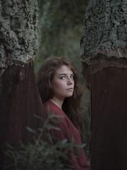 023/365 (edgardomaxia) Tags: people beautiful beauty wood autumn portrait girl cute pretty eyes red green hair bokeh 50mm nikon d750 project365 365