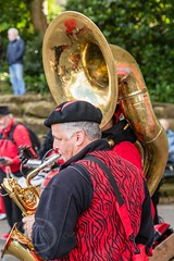 Marsden Jazz Festival 2016_0033 (Mark Schofield @ JB Schofield) Tags: marsden jazz festival 2016 huddersfield yorkshire musicians street people musical instrument dance ulverston band blast furnace