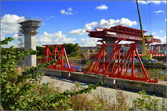 Mersey Gateway Project ( New MSS (Webster) & Southern approach viaduct  Astmoor / Bridgewater Junction Runcorn) 2nd October 2016 (Cassini2008) Tags: merseygatewayproject merseylink msswebster manchestershipcanal bridgeconstruction construction runcorn