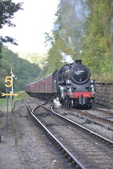Breasting the bank! (Invader1009) Tags: 76084 goathland nymr