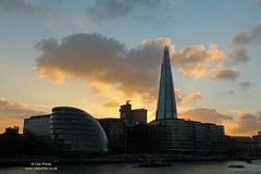 County Hall and The Shard (Owl Prints) Tags: riverthames sunset architecture theshard cloud countyhall river london towers