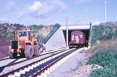 Once upon a time - The Netherlands - IJsselstein (railasia) Tags: holland provinceutrecht ijsselstein sun shovel utilityvehicle wagon infra underconstruction eighties