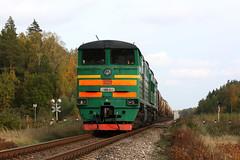 Freight train (Konstantin D.) Tags: dzelzce locomotive  2te10 210 railroad railway   cargo freight kravas  lettonie otwa ldz train latvia jelgava garoza rail vilciens latvija   lokomotiv bahn zug dzelzcels