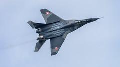 Polish Air Force MiG-29 (lee adcock) Tags: riat saturday airplane airshow fairford polish airforce mig29 fighter kempsford england unitedkingdom gb