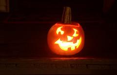 My new creation tonight - Smilin' Jack (dlv1) Tags: jackolantern pumpkin halloween spooky lantern glow orange