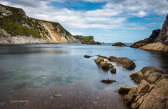 Quiet Bay (pietkagab) Tags: coast bay cliffs jurassic water longexposure le nd 10stops sky clouds blue rocks dorset england uk britain europe south pietkagab piotrgaborek photography pentax pentaxk5ii travel trip tourism sightseeing walk waterscape landscape nature outdoor