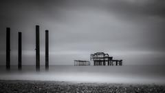 ghosts (damianmkv) Tags: westpierbrighton longexposure blackandwhite moody coast