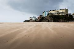 Tenby (*Hairbear) Tags: windy wales houses sand beach coast pembrokeshire tenby