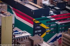 Buildings Wear the National Colours With Pride! (Raphael de Kadt) Tags: johannesburg gauteng colours flag bright cityscape africa