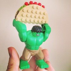 Hulk makes for a great @bruceywan Taco holder. Honestly quote pleased #Lego #marvel #hulk (SpastikChuwawa) Tags: square squareformat mayfair iphoneography instagramapp uploaded:by=instagram