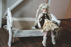 Custom Dolly Bed~ (L a l e t t e *) Tags: cute ikea sisters vintage ball four bed doll sara furniture feminine painted sd bjd chic custom dolly volks sd10 distressed abjd shabby jointed f01