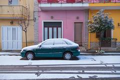 IMG_1716 (guerrierigiorgio) Tags: italy snow car snowing salento puglia