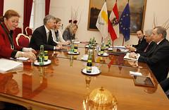 Generalsekretär Linhart trifft Generalsekretär von Zypern Zennon