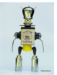 Black Cow Coffee Bot (shumpei_sano_exp9) Tags: sculpture coffee make robot assemblage scifi foundobject reuse danjones junkart tacomaartmuseum tinkerbots blackcowcoffeebot metalurge