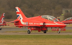 Red 2 XX242 (Rob390029) Tags: red 2 plane team force display hawk aviation military air jet royal bae ouse raf t1 linton aerobatic taxiing xx242