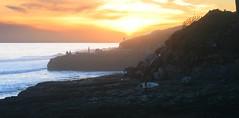 Santa Cruz West Cliff Sunset (Richard Masoner / Cyclelicious) Tags: ocean california sunset santacruz evening rocks surf pacific surfer pacificocean surfboard westcliffdrive 20150119