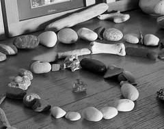 (Landanna) Tags: bw white black pebbles zwart wit sort hvid zw beachstones