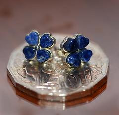 Smaller than a Coin 2 (PhotosbyDi) Tags: coin australian jewellery earrings lapislazuli nikond600 016100 fiftycentcoin tamronf2990mmmacrolens smallerthanacoin