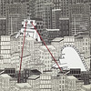 intergalactic... (CatMacBride) Tags: city buildings paper paperart robot town eyes dino dinosaur laser papercraft papercutting