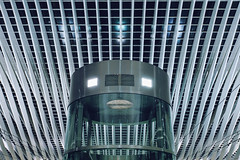 Bad Robot (Subversive Photography) Tags: travel abstract beautiful station architecture robot belgium transport railway symmetry liege futuristic liègeguilleminsrailwaystation danielbarter