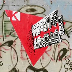 KRAYON || ROMA, San Lorenzo  14/02 REAL VALENTINE  (the day after) (.krayon) Tags: street streetart pasteup art wall poster artwork handmade wallart urbanart pixel pixelart sanlorenzo posterart krayon