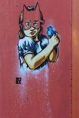 RNST_0408 rue Andr Pieyre de Mandiargues Paris 13 (meuh1246) Tags: streetart paris animaux enfant oiseau masque paris13 rnst rueandrpieyredemandiargues