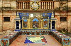 Banco de cermica dedicado a Segovia en la Plaza de Espaa de Sevilla (Rafael Gomez - http://micamara.es) Tags: plaza en espaa de la sevilla banco segovia cermica azulejos dedicado provincias espaolas