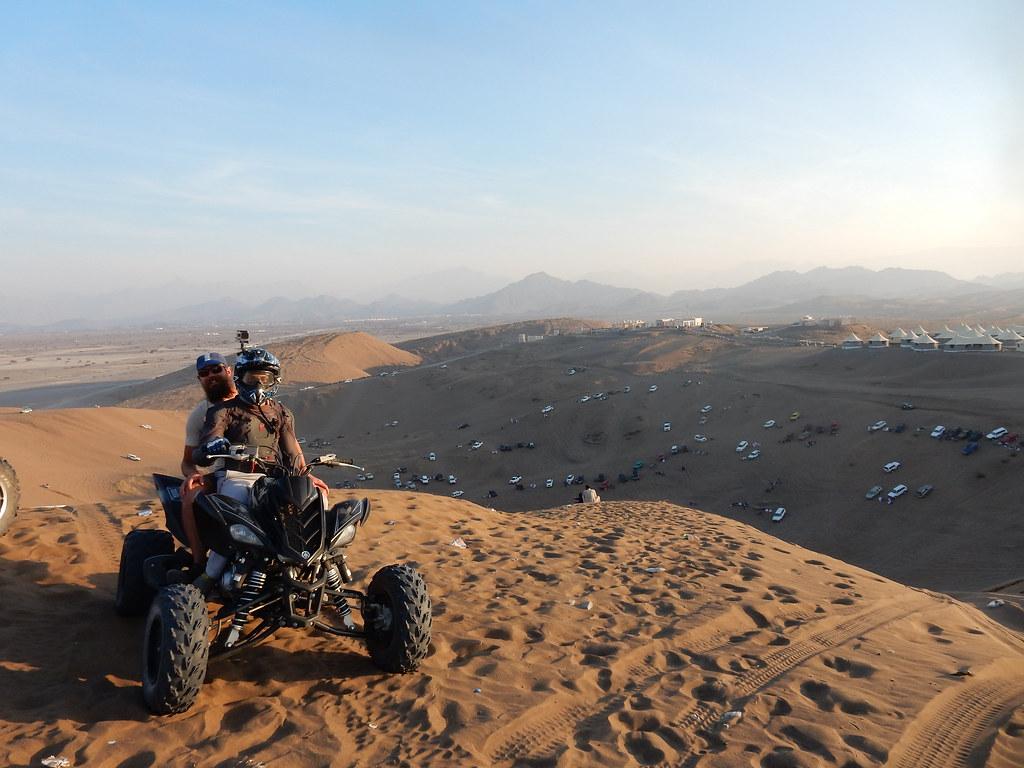 Quad biking in the sand pit